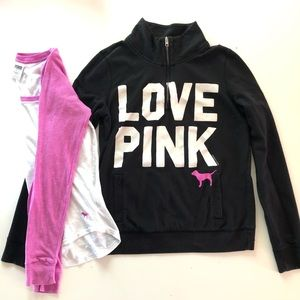 PINK Victoria Secret Sweatshirt & Long Sleeve Tee